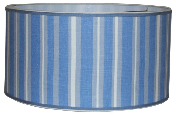 Blue & White Stripe Shade