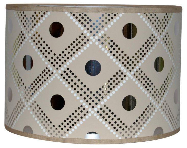 Silver Foil Polka Dot Shade