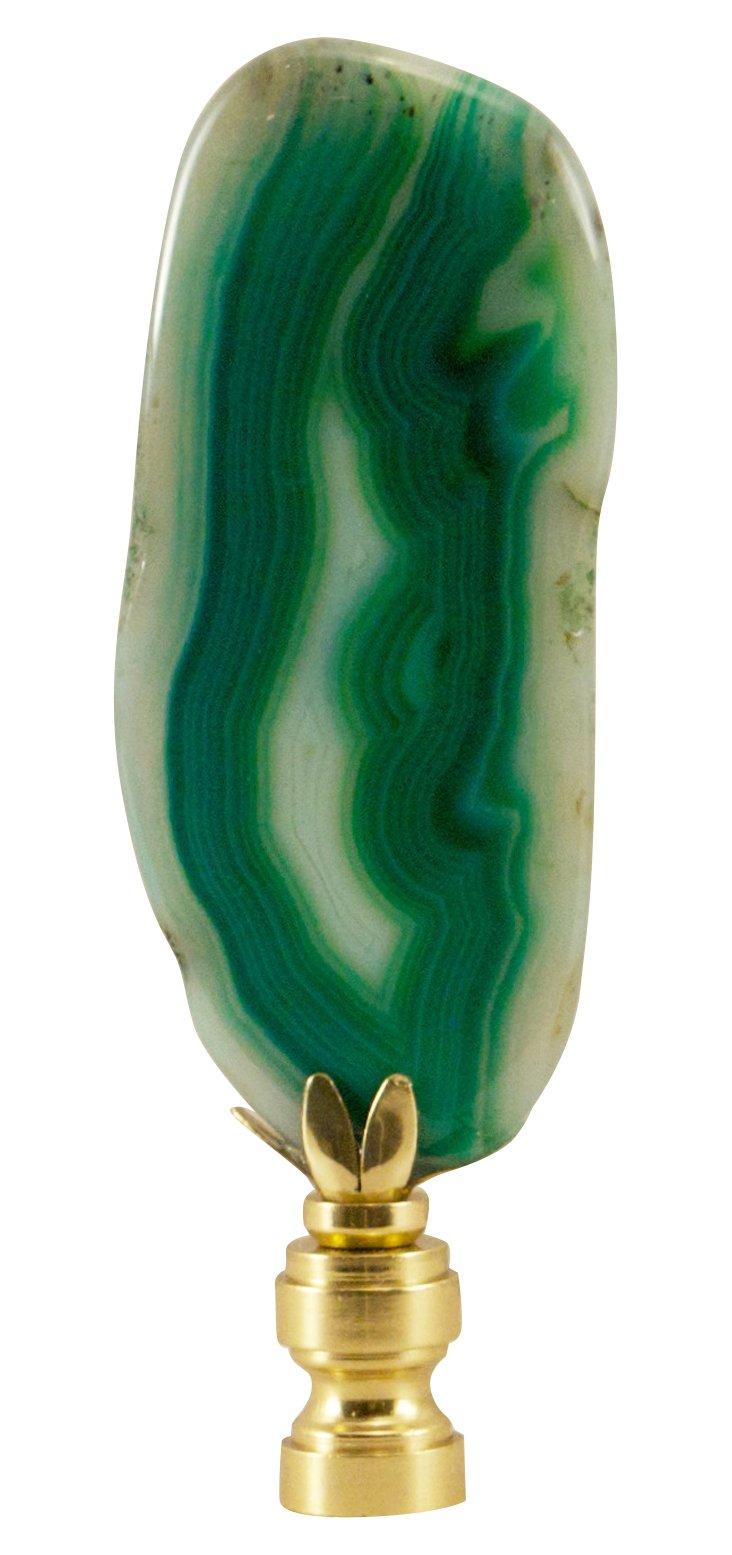 Green    Agate   Finial