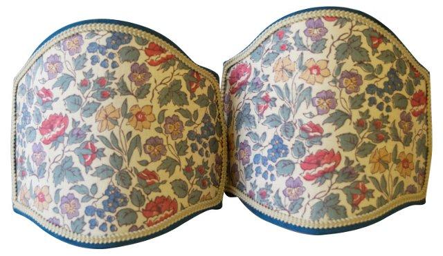Silk Spring Floral Shields, Pair