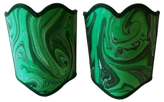 Malachite Shield Shades,        Pair