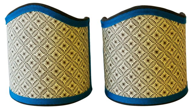 Brown & Cream Shield Shades, Pair