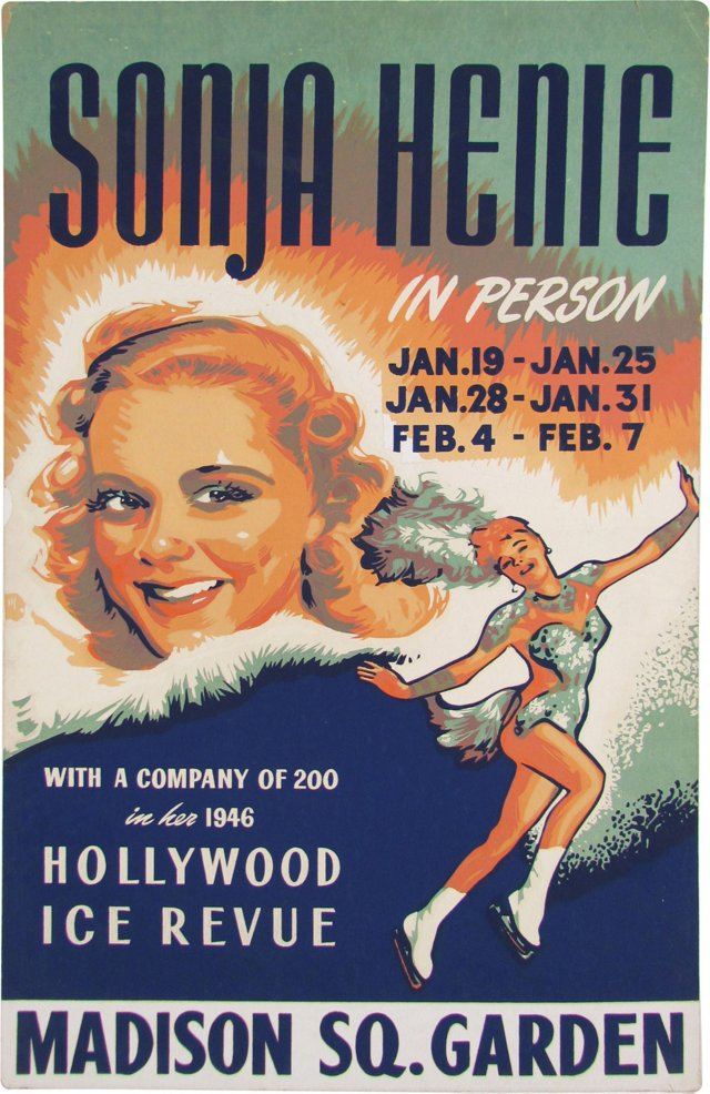 Sonja Henie Ice Review Poster, 1946