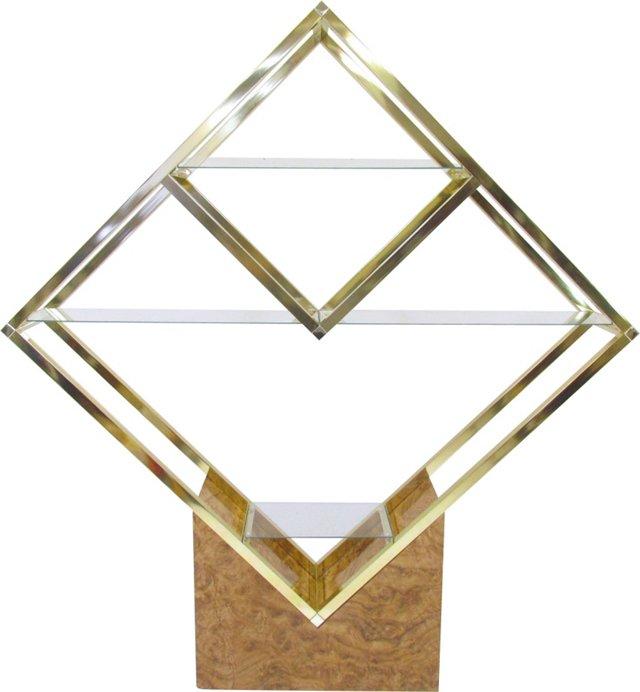 Baughman-Style Brass Étagère