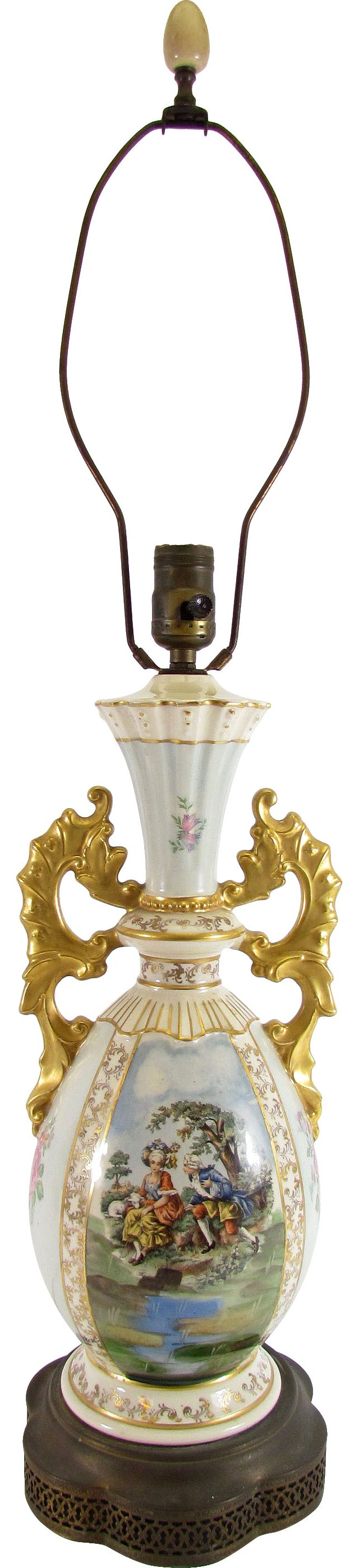 French Sèvres-Style Porcelain Lamp