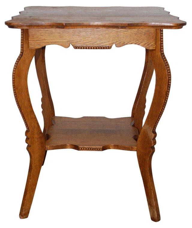 Victorian Tiger Oak Hall Table