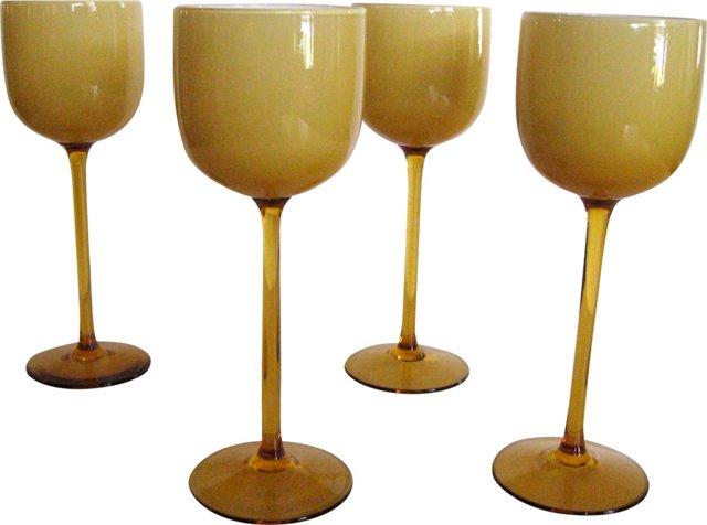Long-Stem Murano Glasses, Set of 4