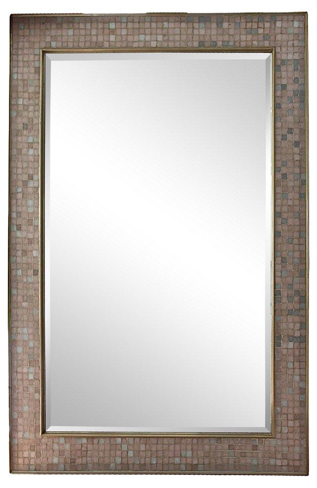 Huge Tile-Framed Mirror