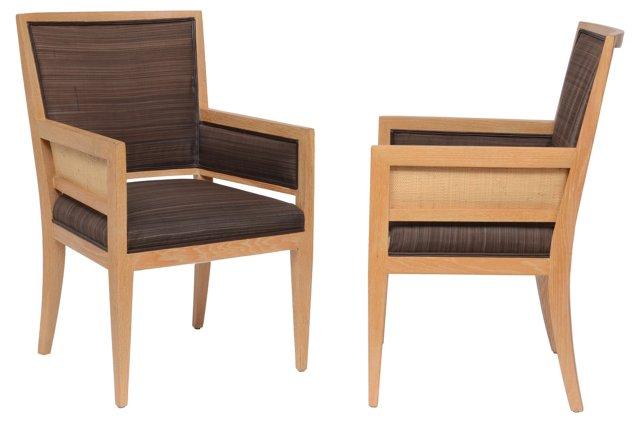 Modern  Armchairs, Pair