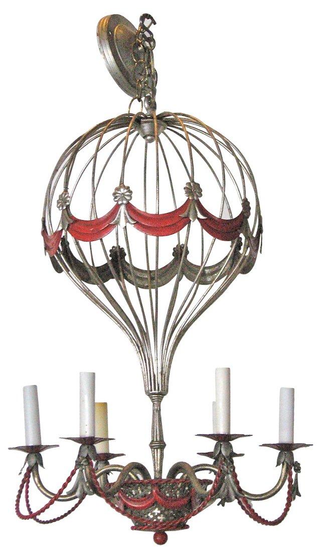 Italian Tole Balloon Chandelier