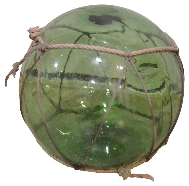 Glass Fishing Float w/ Rope