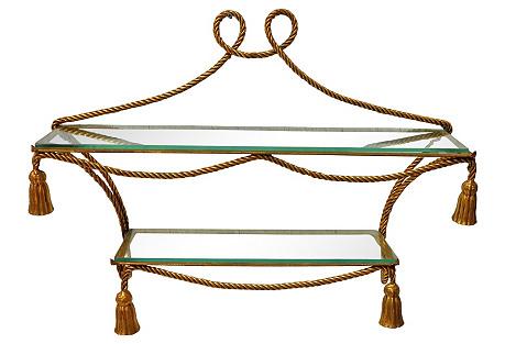 Rope & Tassle Form Hanging Étagère