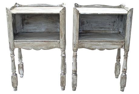 19th-C. Provençal Nightstands, Pair