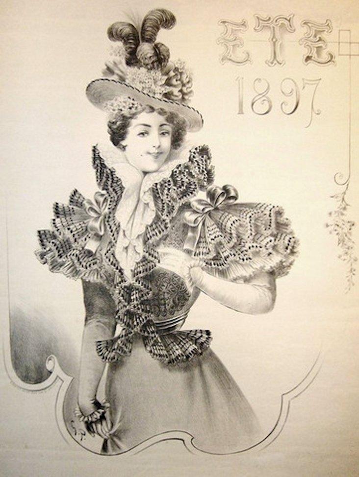 French Art Nouveau Poster, 1897