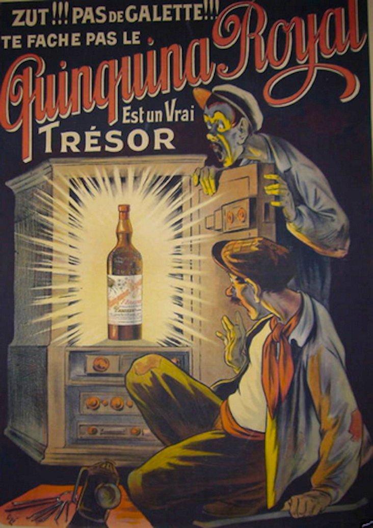 French Art Nouveau Quinquina Poster