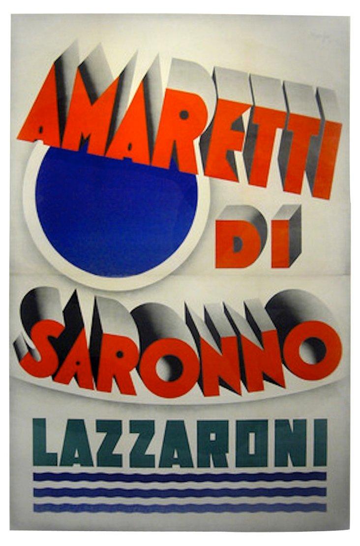 Italian Art Deco Sweets Poster