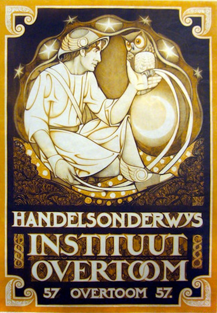 Dutch Art Nouveau Poster, 1917