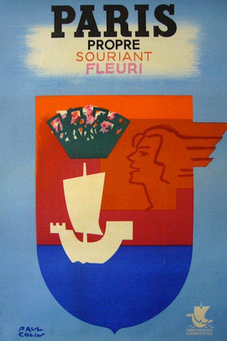 Paris Propre Poster by Paul Colin