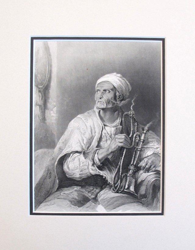 Hooka-Badar Etching, 1888