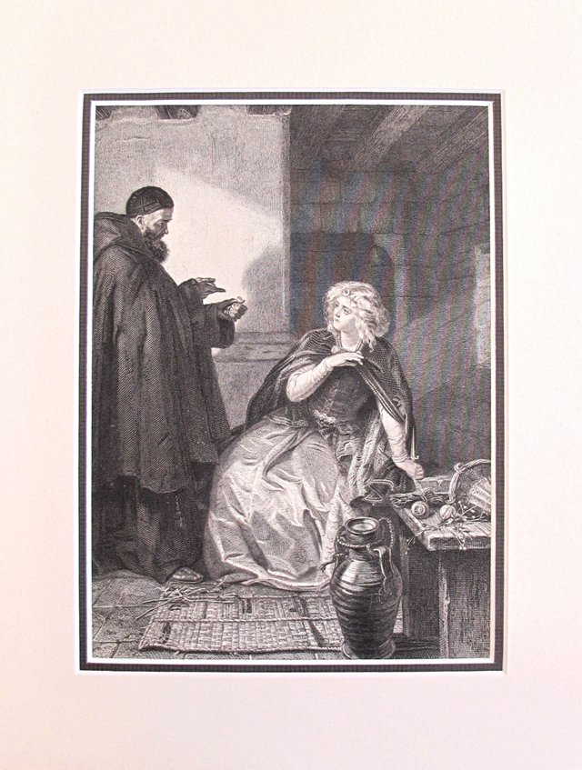 Juliet & Friar Lawrence Etching, 1888