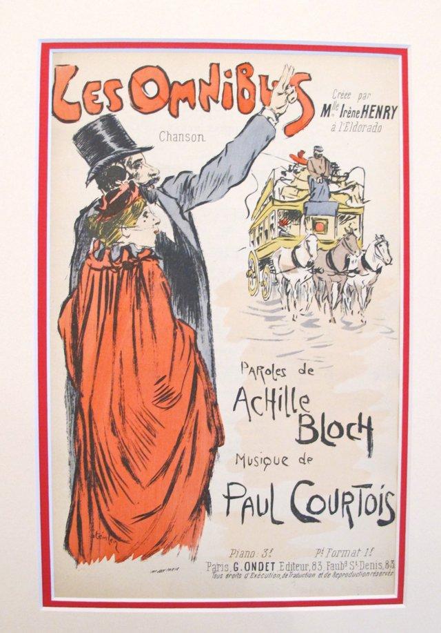 Art Nouveau Song Sheet by Steinlen, 1900