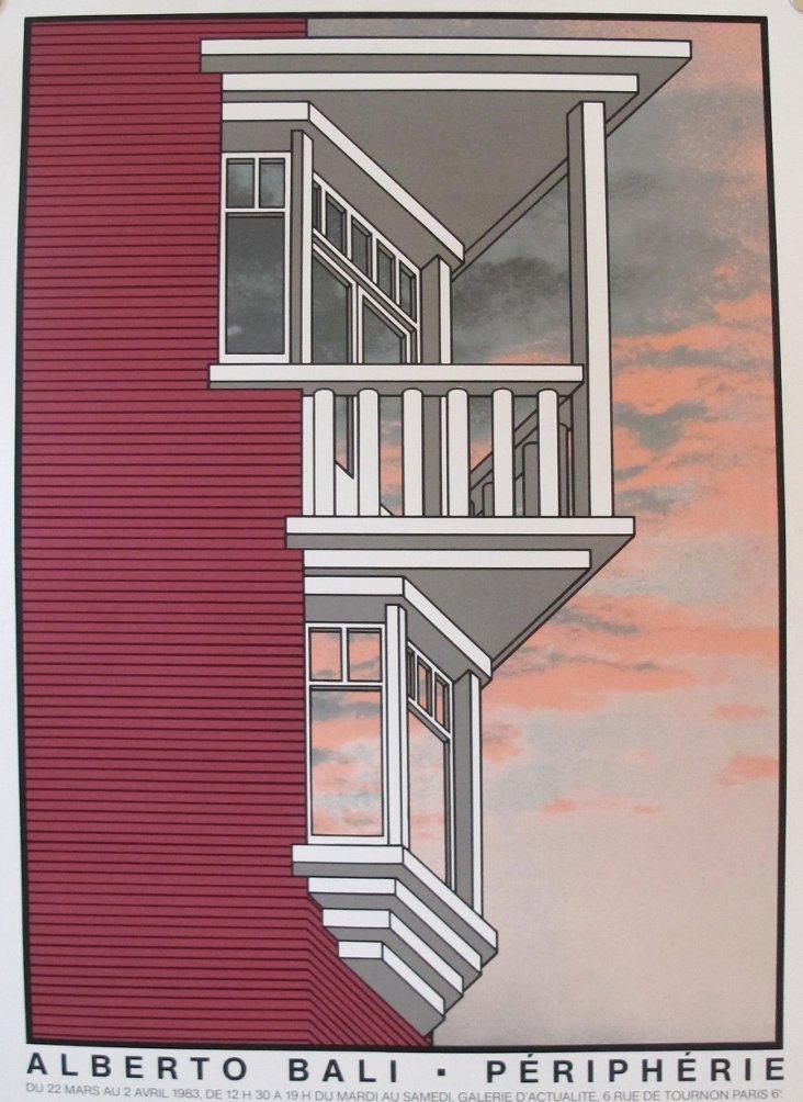 Alberto Bali Architecture Poster, 1983