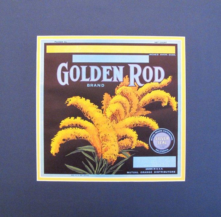 Golden Rod Label, C. 1935