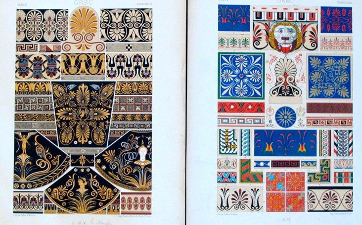 French  Designer  Sheets, C. 1900, Pair