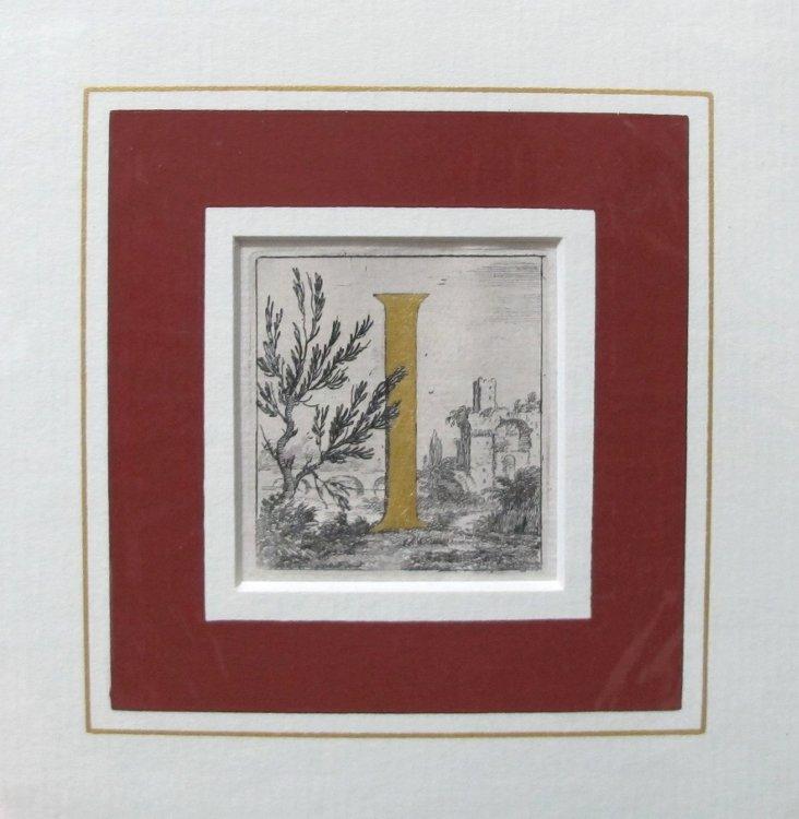 Italian Woodblock Print, C. 1750