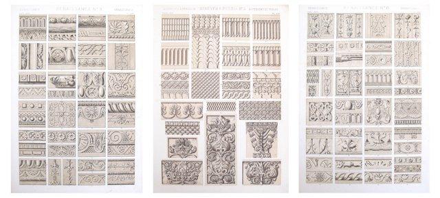 Owen Jones Designer Sheets, 1856, S/3