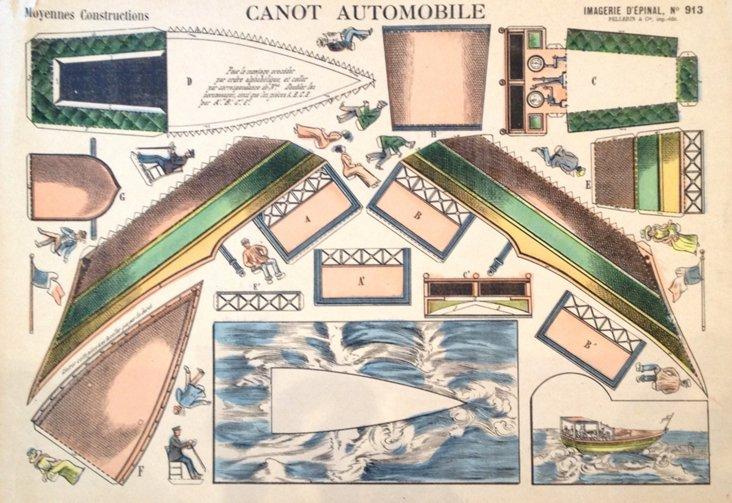 Automotive Cut-Out Print, C. 1900
