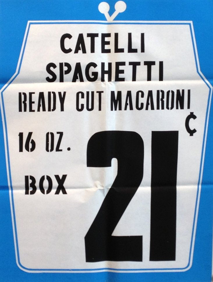 1950s Grocery Spaghetti Poster