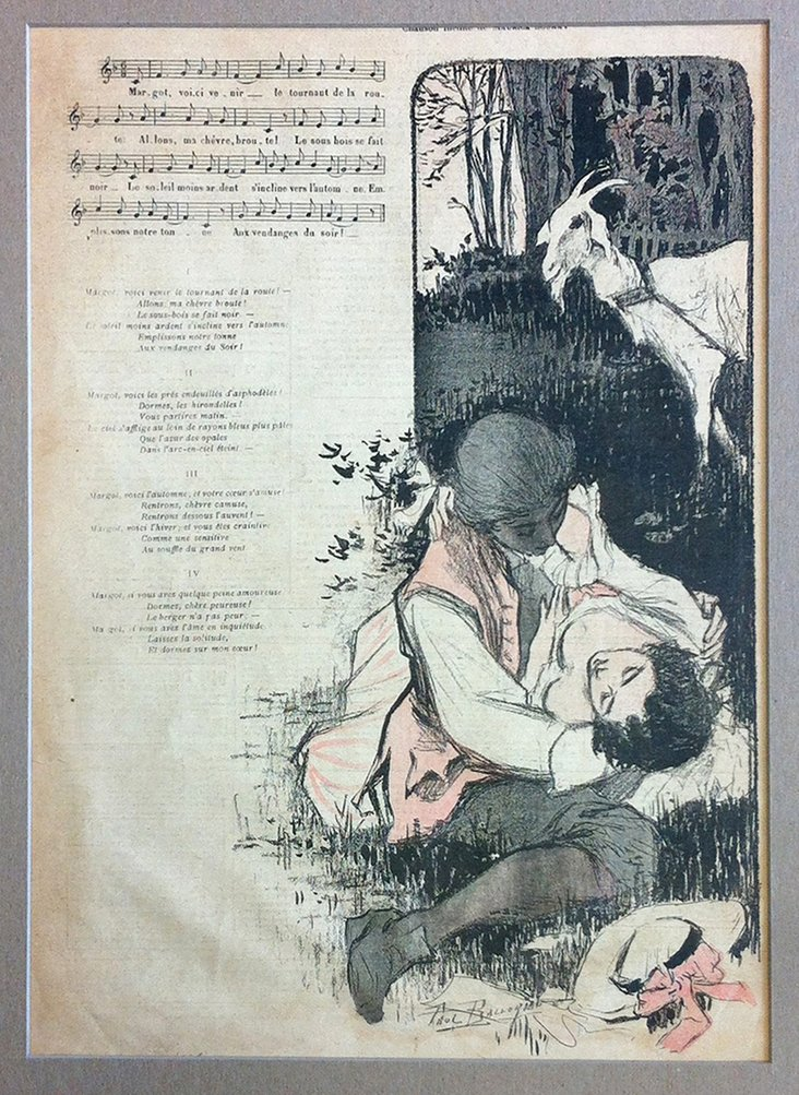 1890s French Song Sheet, Pastorale