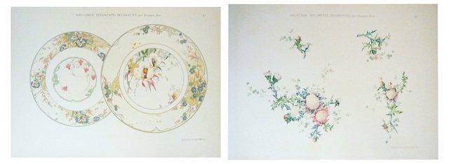 Art Nouveau Design    Sheets, 1906, Pair