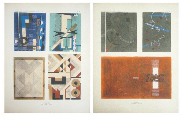 Art Deco Book Cover Designs, Pair