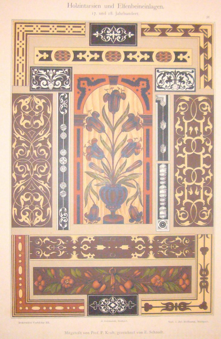 Retro German Decorator Sheet, C.1900
