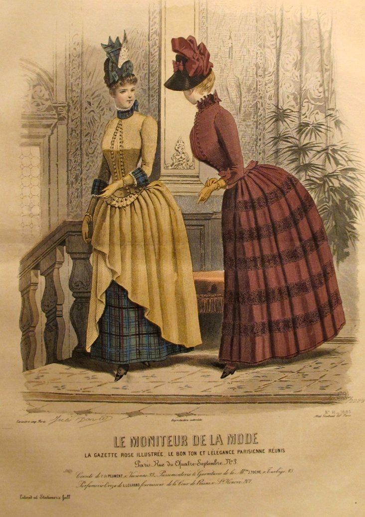 French Women's Fashion Plate,   1885