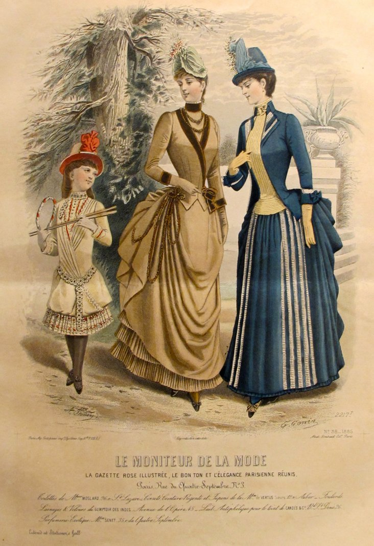French     Fashion Plate, 1885