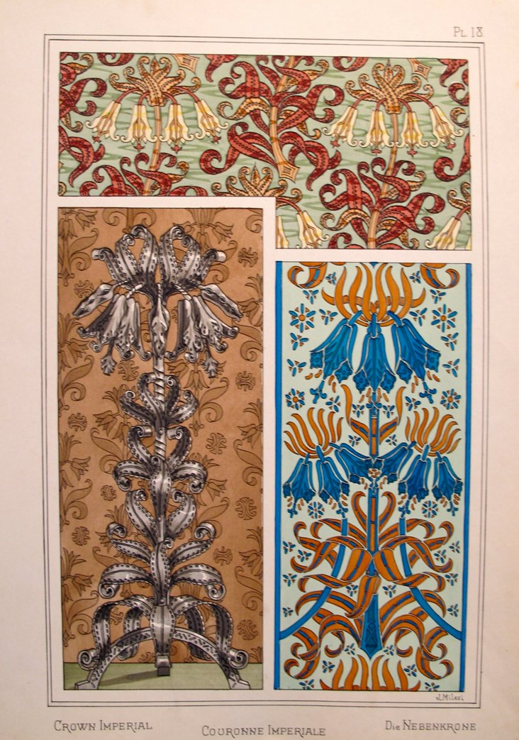 Art Nouveau Design Sheet, 1885