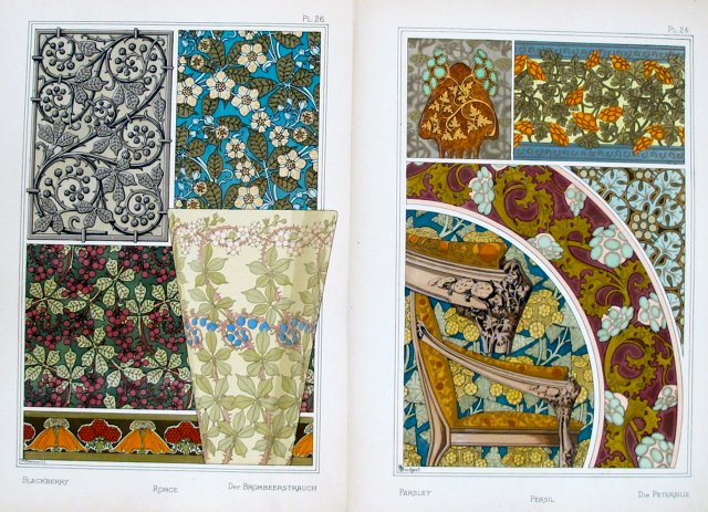 French Decorator Sheets, 1885, Pair