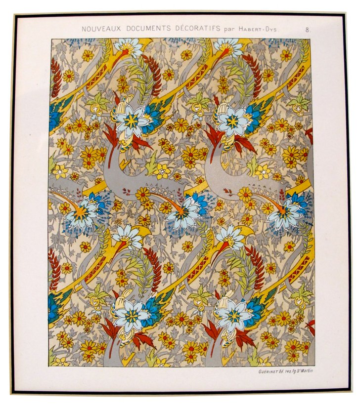 French Design Sheet, 1906