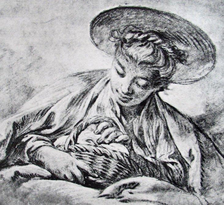 Engraving of a Gardener, 1856
