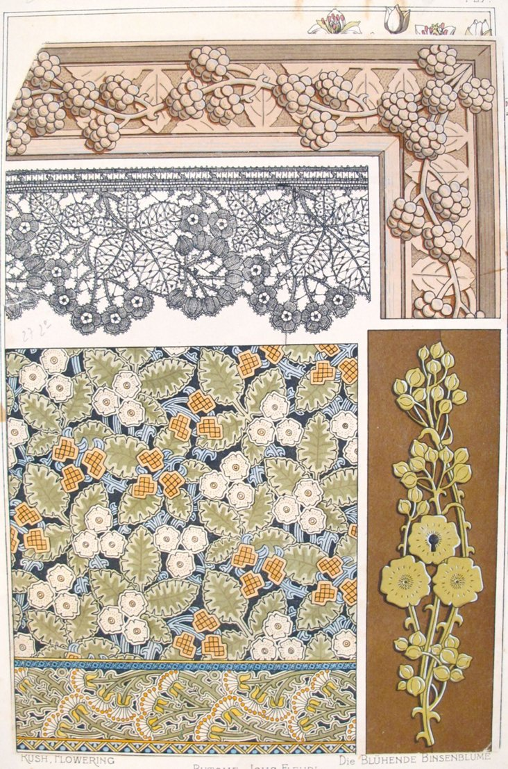 Antique Foliage Design Sheet, 1885