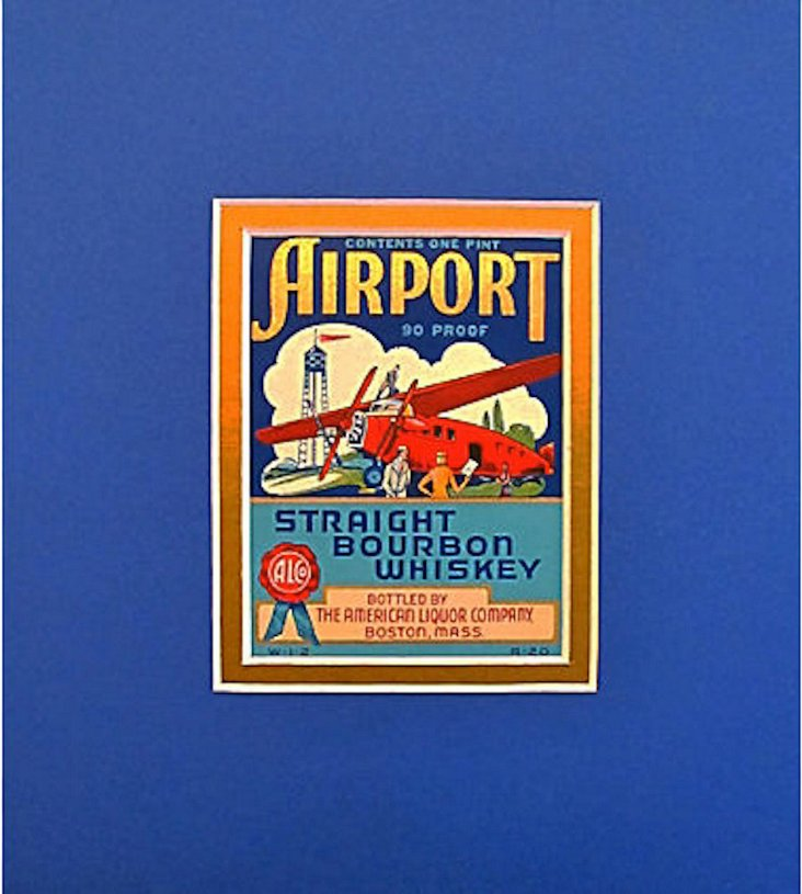 Airport Whiskey Label, C. 1935