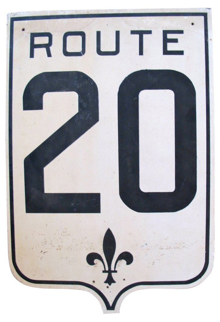 French Wood Road Sign, C. 1940