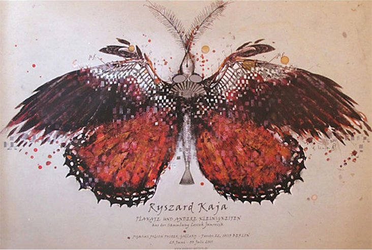 Orange Butterfly Exhibition Poster