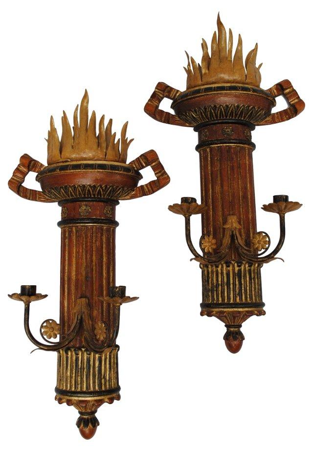 Italian Neoclassical  Sconces, Pair