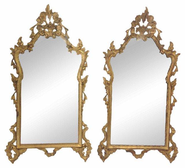 1960s Italian Mirrors, Pair