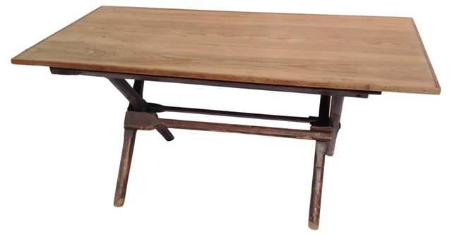 Antique English Campaign Table