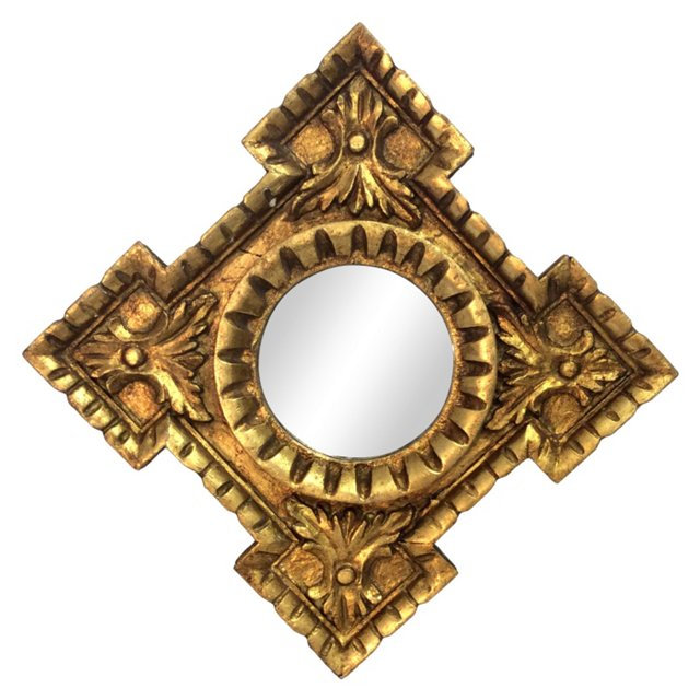 Spanish Giltwood Mirror